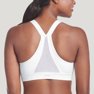 NWT Jockey Groovy High Impact Sports Bra white XL